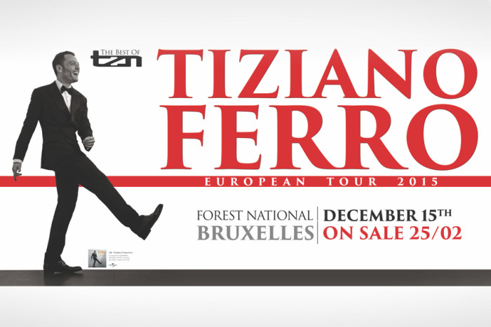 Concert Tiziano Ferro in Vorst Nationaal